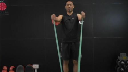 弹力带塑形男生版胸肩训练