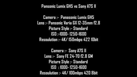 Panasonic Lumix GH5对比Sony A7S II视频直出测试