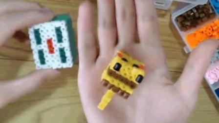 小民-7: 创意拼豆DIY-比卡丘-立体版