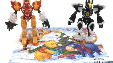 玩具SHOW斗龙战士 斗龙战士拼小熊维尼历险记拼图玩具 37 小熊维尼历险记拼图玩具