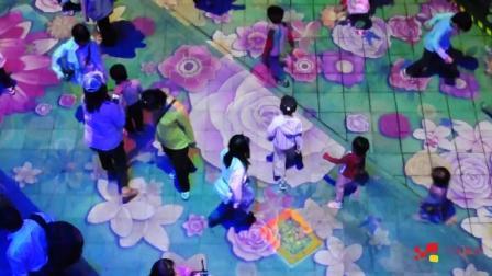 苏州园博会大型地面互动投影