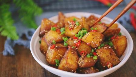 外焦里嫩的锅巴土豆, 咬一口酥到心里~~