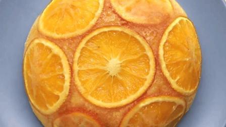 甜品美食 电饭煲做美味的橙子蛋糕, 水果风味