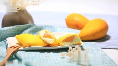 一只平底锅就能做出芒果班戟, 这个夏天想吃多少就吃多少!