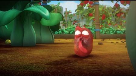 爆笑虫子: 傻掉的红虫对鼻涕是那么痴迷, 咸咸的