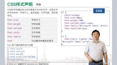 3.2 CSS选择器和样式声明