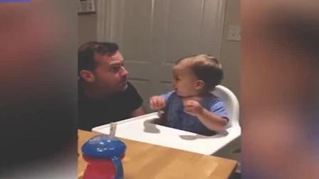国外一个宝宝每当听到老爹开始B-box, 就会兴奋的