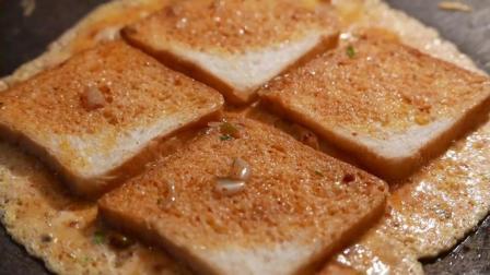 印度路边小吃街头食品——美味的面包煎蛋卷