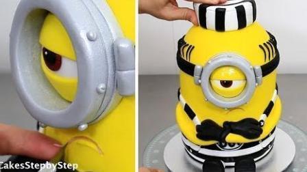 手把手教你做一个小黄人蛋糕
