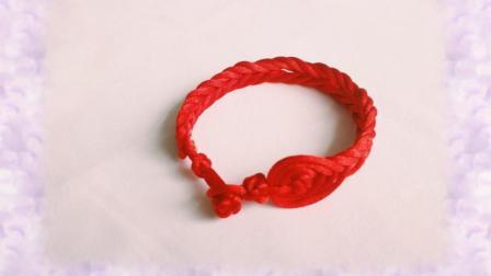 手工编绳, 2分钟学会一款漂亮的手链, 陆贞传奇赵丽颖戴的红绳