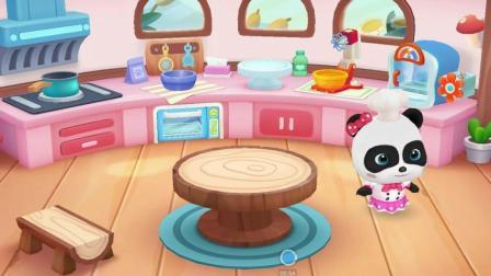 宝宝巴士小游戏 烘焙屋小厨师 做曲奇饼干给小猪佩奇