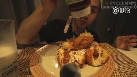 韩国大胃王奔驰小哥BANZZ吃: 香肠面包