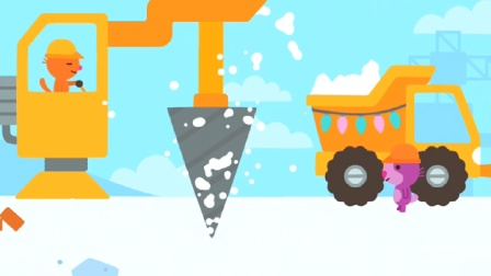 游戏玩具屋 赛哥迷你 工程师 推土机 挖掘机 吊机 给企鹅建房子