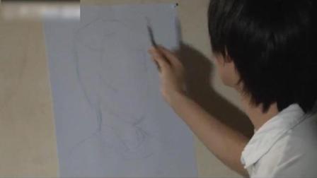 女中年头像素描基..速写绘画色彩教程教学 入门圆椎石膏几何体的画法