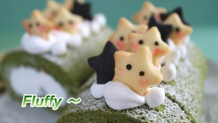 教学, 看上去非常可爱的日式抹茶蛋糕卷