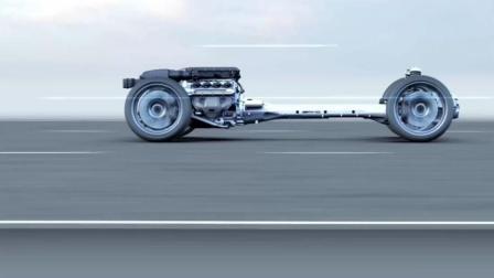 超逼真3D动画演示奔驰超级跑车SLS内部构造、底盘结构
