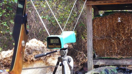 美猎:熊牌撤除TakeDown箭速测试(装备测评之美洲传统弓)