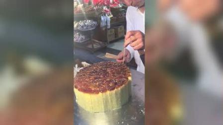 老人制作的桂花糕, 便宜还好吃