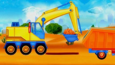 工程车 自卸车 垃圾车 汽车总动员 汽车修理厂 第四期 挖掘机组装 陌上千雨