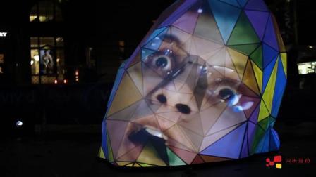 酷炫的不规则球形投影系统, 让内容更有趣
