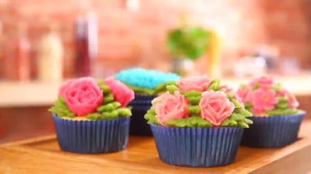 教你在家做裱花杯子蛋糕, 颜值和口感都妙极了, 关键是简单!