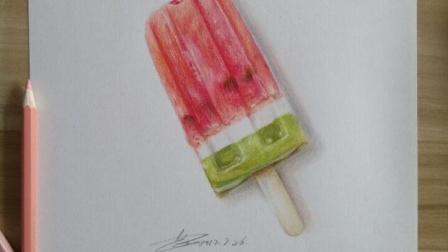 【艺达】彩铅超写实—冰棍