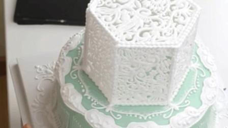 美轮美奂的婚礼翻糖蛋糕, 没吃过起码要见过!