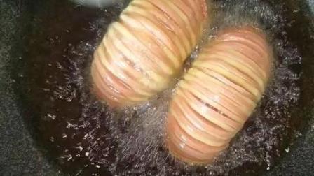 土豆夹火腿肠, 做法教程, 好吃做法简单的小零食