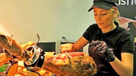 『手切西班牙火腿三明治』伦敦卡姆登镇街头美食