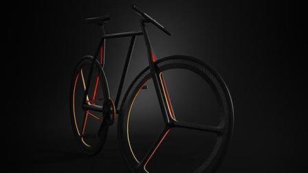 这辆又对称、又极简的自行车, 轮毂居然三角形!