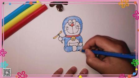 机器猫简笔画 卡通人物简笔画 简笔画教程