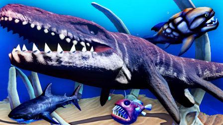 【屌德斯解说】 模拟食人鱼 全新生存模式 遇到恐龙时代的巨型怪鱼,难道是传说中的海王龙?
