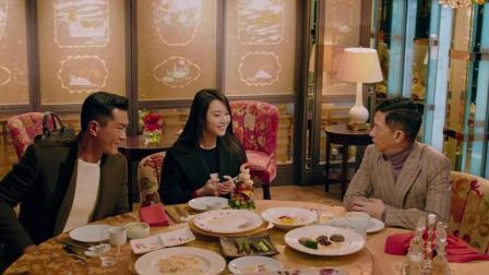 古天乐张家辉两个大小孩吃饭玩助手的饭碗《使徒行者.电影版》