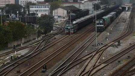 DF4B货列宣城站四道发车
