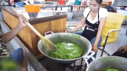 泰国街头小吃, 泰式香兰椰糕, 就是半成品看起来怪怪的