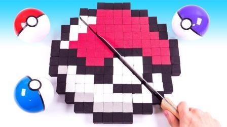 口袋妖怪变身精灵球蛋糕? 太空沙DIY创意新玩法, 培养宝宝想象力激发创造力!