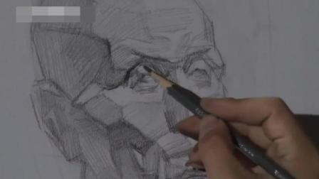 头像结构教学素描色彩三要素_卡通人物素描铅笔画_白描入门油画技法