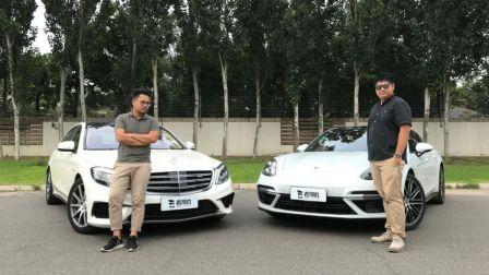 《上车开怼》保时捷Panamera turbo怒怼奔驰S63L AMG,给你200万买哪个?