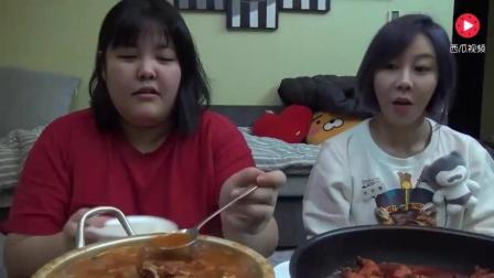 韩国胖妞吃播, 泡菜鸡肉汤