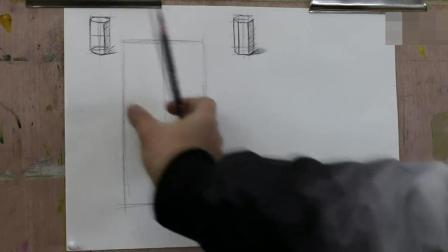 柱体素描基础教程基础素描教学计划_产品速写手绘图片