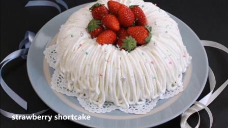 不能直视, 只想快点吃掉, 好看好吃的草莓圣诞蛋糕做法