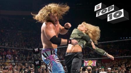 WWE十个响亮的耳光 塞纳蛋妞连襟互扇 老麦被儿子掌掴 吾王被打脸