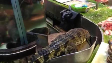 中国夫妻到非洲开海鲜摊卖鳄鱼, 一斤98元, 3年赚回200万