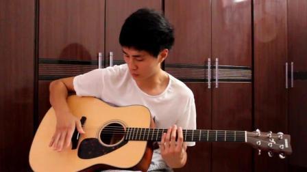 《吉他打鼓教程》第一课: 吉他上的大鼓、小鼓、通鼓、以及Hi-Hat的位置。