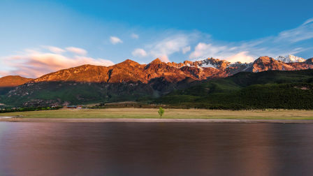 捕捉日照金山-雪山下的龙女湖(下)