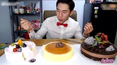大胃王奔驰小哥吃三个蛋糕, 这蛋糕我能吃一个礼拜