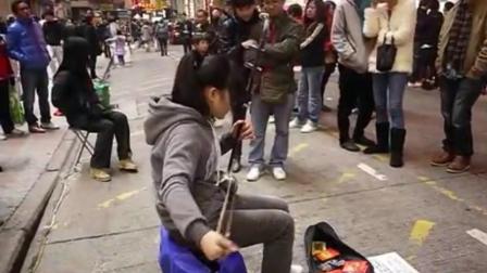 千年琵琶, 万年筝, 一把二胡拉一生, 女孩街头演奏《上海滩》