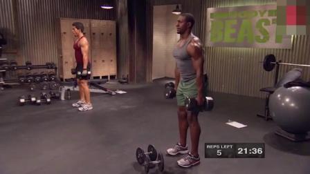一款适合男人健身的动作, 哑铃之深蹲