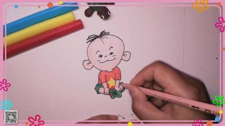 大耳朵图图简笔画 卡通人物简笔画 简笔画教程