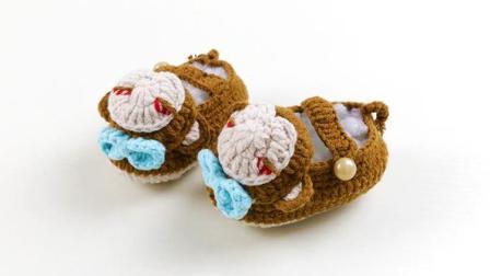雅馨绣坊钩编宝宝鞋视频第17集:小猴款宝宝鞋下集各种编法